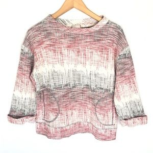 Anthropologie Multicolor Textured Woven Sweater S